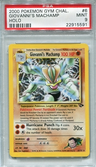 Pokemon Gym Challenge Single Giovanni's Machamp 6/132 - PSA 9 - *22915591*
