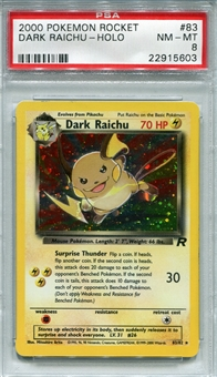 Pokemon Team Rocket Single Dark Raichu 83/82 - PSA 8 - *22915603*
