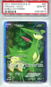 Pokemon Noble Victories Single Virizion 97/101 - PSA 10 - *22915610*