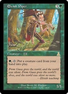 Magic the Gathering Urza's Destiny Single Elvish Piper - SLIGHT PLAY (SP)