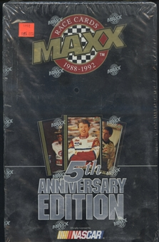 1992 J.R. Maxx Inc. Maxx 5th Anniversary Edition Racing Hobby Box - Black Box