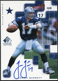 1999 Upper Deck SP Signature Autographs #JG Jason Garrett