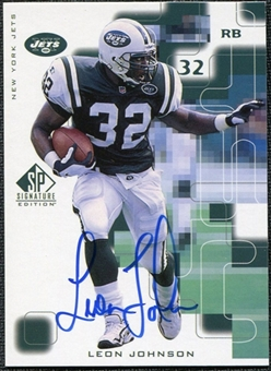 1999 Upper Deck SP Signature Autographs #LJ Leon Johnson