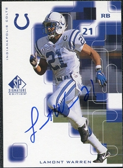 1999 Upper Deck SP Signature Autographs #LW Lamont Warren