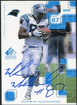 1999 Upper Deck SP Signature Autographs #MM Muhsin Muhammad