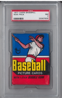 1977 Topps Baseball Wax Pack PSA 7 (NM)