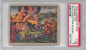 "1938 Gum Inc. Horrors of War #148 ""Clearing The Battlefield For Action"" PSA 5 (EX) *1503"