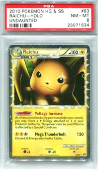 Pokemon Undaunted Single Raichu 83/90 - PSA 8 - *23071534*