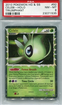 Pokemon Triumphant Single Celebi 92/102 - PSA 8 - *23071535*