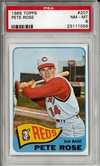 1965 Topps Baseball #207 Pete Rose PSA 8 (NM-MT) *1056