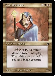 Magic the Gathering Legends Single Boris Devilboon - SLIGHT PLAY (SP)