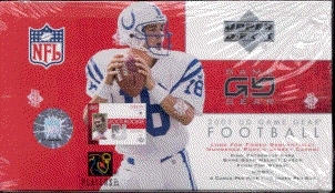 2001 Upper Deck Game Gear Football Hobby Box