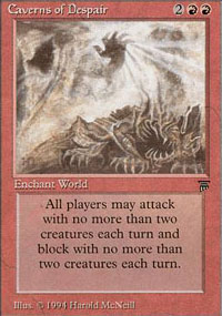 Magic the Gathering Legends Single Caverns of Despair - SLIGHT PLAY (SP)