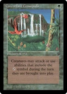 Magic the Gathering Legends Single Concordant Crossroads - SLIGHT PLAY (SP)