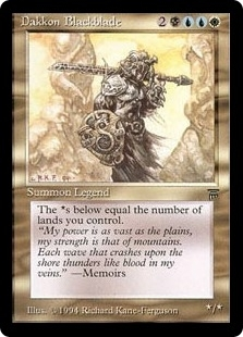 Magic the Gathering Legends Single Dakkon Blackblade - SLIGHT PLAY (SP)