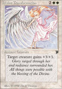 Magic the Gathering Legends Single Divine Transformation - NEAR MINT (NM)