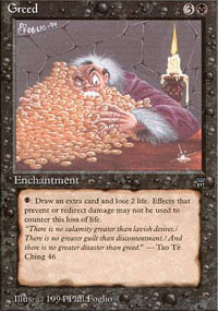 Magic the Gathering Legends Single Greed UNPLAYED (NM/MT)