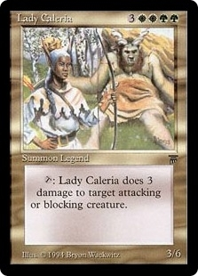 Magic the Gathering Legends Single Lady Caleria - SLIGHT PLAY (SP)