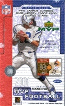 2001 Upper Deck MVP Football Hobby Box