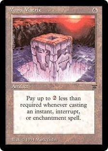 Magic the Gathering Legends Single Mana Matrix UNPLAYED (NM/MT)