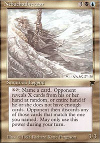 Magic the Gathering Legends Single Nebuchadnezzar - SLIGHT PLAY (SP)
