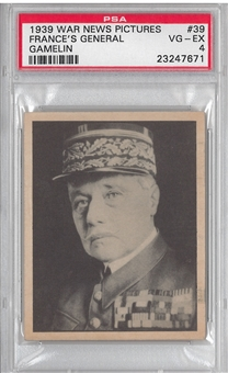 1939 Gum Inc. Horrors of War #39 France's General Gamelin PSA 4 (VG-EX) *7671