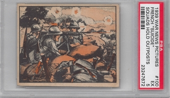 "1939 Gum Inc. War News Pictures #100 ""French Suicide Squads Hold Outposts"" PSA 5 (EX) *7672"