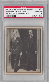 1939 Gum Inc. Horrors of War #33 King GeorgeVI & Chamberlain PSA 4 (VG-EX) *7673