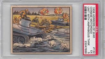 "1938 Gum Inc. Horrors of War #132 ""Chinese Motorized Unit"" PSA 5 (EX) *7686"