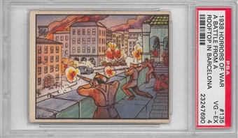 "1938 Gum Inc. Horrors of War #135 ""A Battle From A Rooftop"" PSA 4 (VG-EX) *7690"