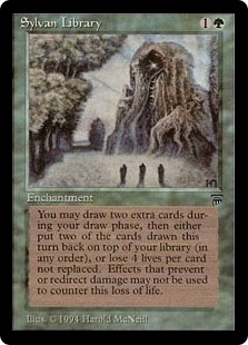 Magic the Gathering Legends Single Sylvan Library LIGHT PLAY (NM)