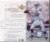 2001 Upper Deck Pros & Prospects Football Hobby Box
