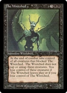 Magic the Gathering Legends Single The Wretched - SLIGHT PLAY (SP)