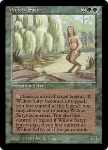 Magic the Gathering Legends Single Willow Satyr - NEAR MINT (NM)
