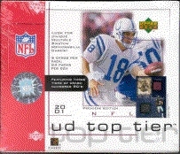 2001 Upper Deck Top Tier Football Hobby Box