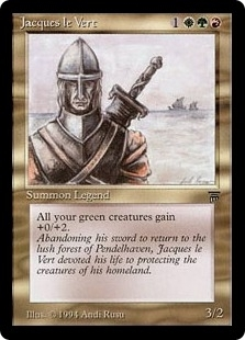 Magic the Gathering Legends Single Jacques le Vert LIGHT PLAY (NM)