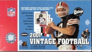 2001 Upper Deck Vintage Football Hobby Box