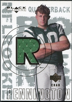 2000 Upper Deck Black Diamond #156 Chad Pennington RC Jersey