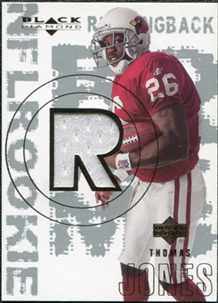 2000 Upper Deck Black Diamond #160 Thomas Jones RC Jersey