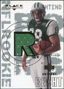 2000 Upper Deck Black Diamond #167 Anthony Becht RC Jersey