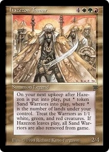Magic the Gathering Legends Single Hazezon Tamar - SLIGHT PLAY (SP)