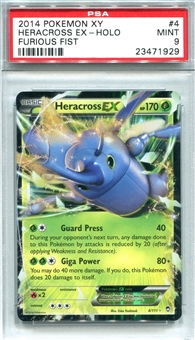 Pokemon Furious Fists Single Heracross EX - PSA 9 *23471929*