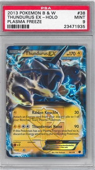 Pokemon Plasma Blast Single Thundurus EX - PSA 9 *23471935*