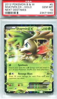 Pokemon Next Destinies Single Shaymin EX - PSA 10 *23471940*