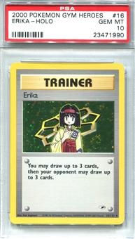 Pokemon Gym Heroes Single Erika - PSA 10 *23471990*