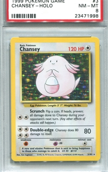 Pokemon Base Set 1 Single Chansey - PSA 8 *23471998*