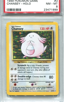 Pokemon Base Set 1 Single Chansey - PSA 8 *23471999*