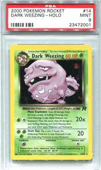 Pokemon Team Rocket Single Dark Weezing - PSA 9 *23472001*
