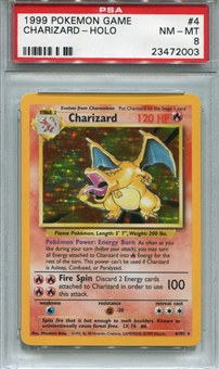 Pokemon Base Set 1 Single Charizard - PSA 8 *23472003*