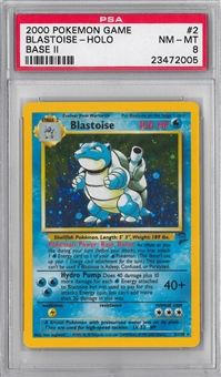 Pokemon Base Set 2 Single Blastoise - PSA 8 *23472005*